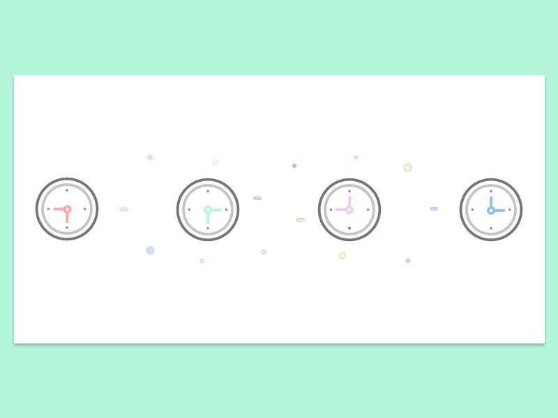 World Clocks Illustration  startup tech sketchapp sketch cover picture design illustration clock