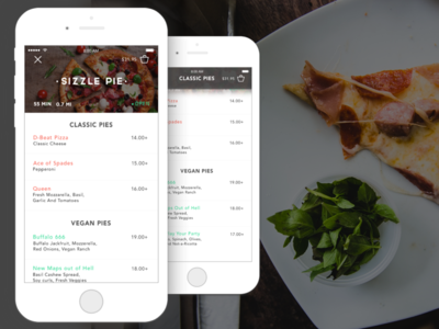 SIZZLE PIE | Mobile UI