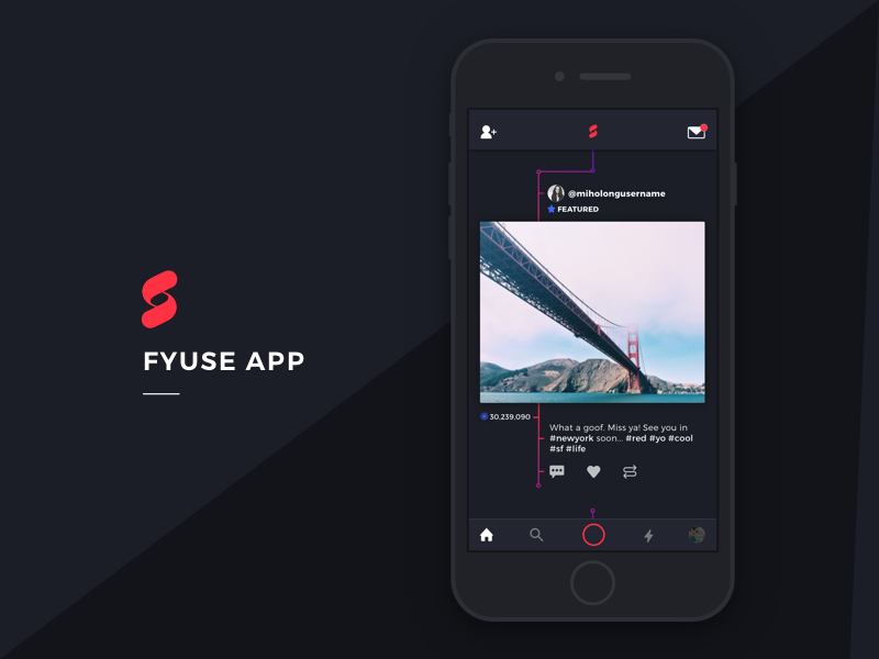 Fyuse App Redesign simple dark futuristic minimal design tech ai interface design branding redesign ux ui