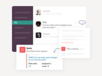 Slack app actions simple UI