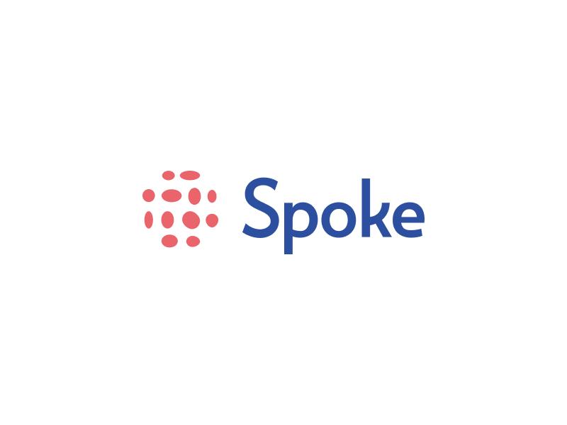 Spoke re-branded! typography tech ai simple branding illustration design re-design re-branding startup brand rebranding logo