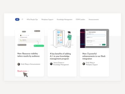 Blog posts design