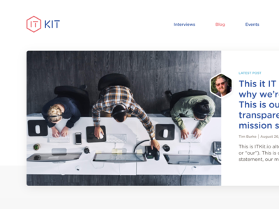 IT Kit website rebrand
