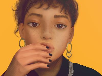 Untitled digital painting portrait digital drawing illustration procreate