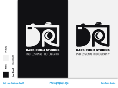 Dark Room Studios - Photography Logo and Branding art minimalist camera photography icon dailylogochallenge flat vector logo branding illustrator design