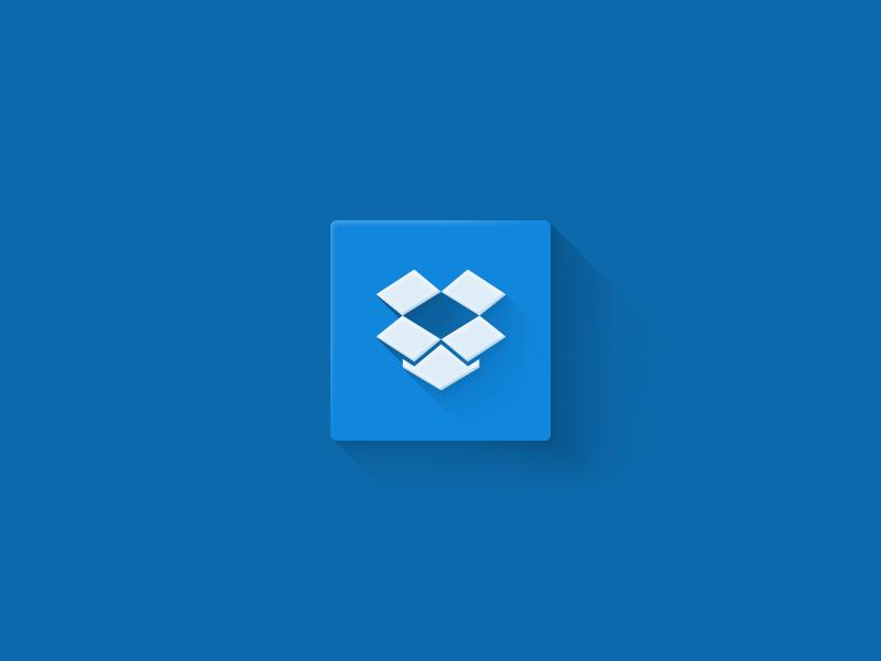 Dropbox flat dropbox flat icon simple clean logo shadow