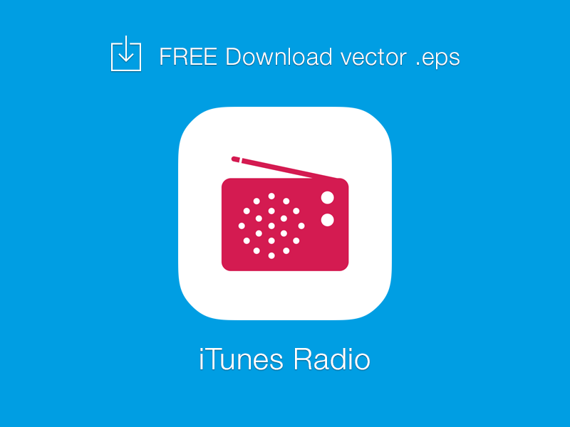 FREE] iTunes Radio logo vector by Kevin Py | Dribbble | Dribbble