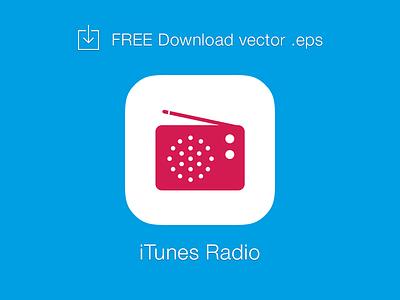 [FREE] iTunes Radio logo vector free logo icon itunes radio vector eps download