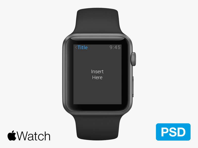 Apple Watch Psd apple watch  psd free mockup clean simple