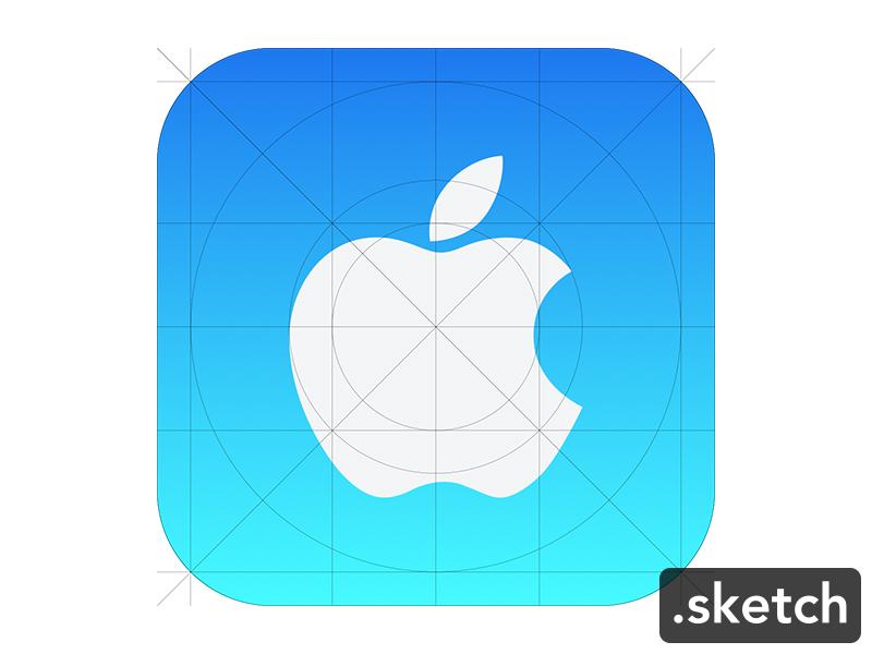 Freebie Sketch : Icon iOS7 icon freebie free ios7 grid sketch