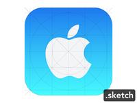 Freebie Sketch : Icon iOS7