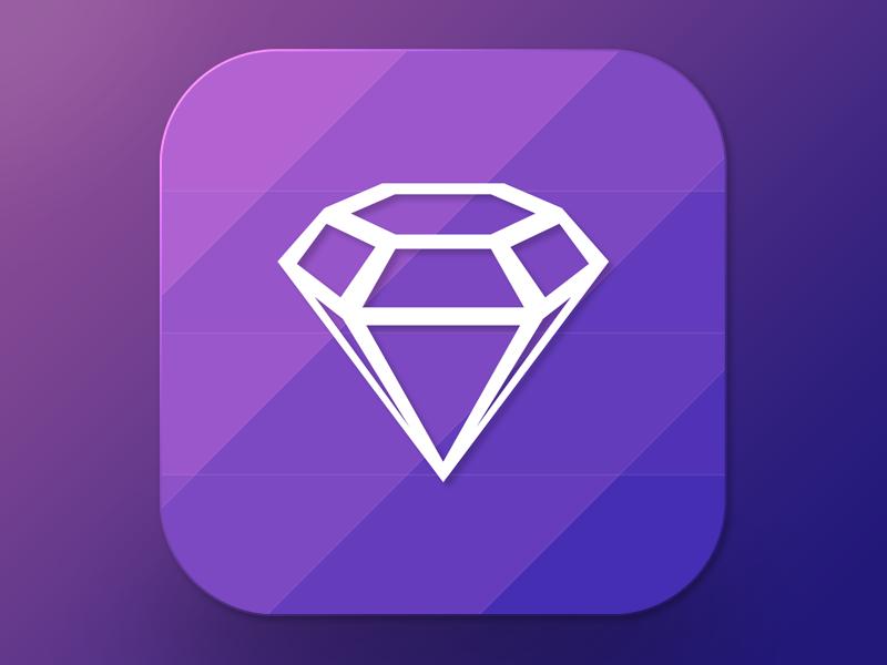 Freebie Sketch : Icon Diamond free freebie sketch icon ios7 diamond clean simple logo concept