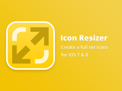 Icon Resizer free freebie mac icon resizer set ios iphone ipad app simple clean