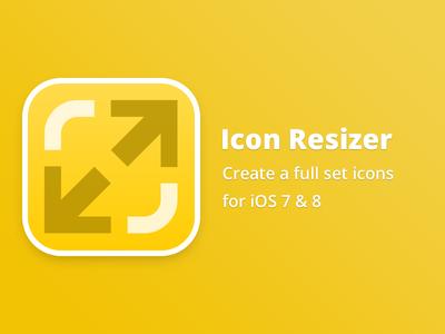 Icon Resizer free freebie mac icon resizer set ios iphone ipad app simple clean