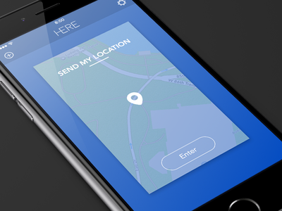 Here - Send my location here ios app simple clean animation geolocation