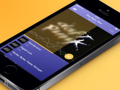 Music Player Concept music player concept ios simple clean blur playlist