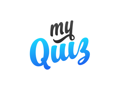 My Quiz quiz logo handwrite