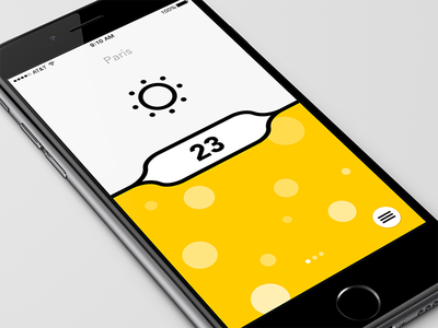 Weather concept clean simple ios app weather