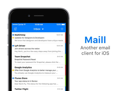 Maill - iOS Mail minimalist simple clean ui design ios mail