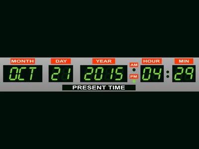 October 21, 2015 delorean capacitor flux doc marty mcfly future the to back bttf