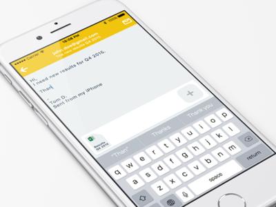 Send Mail Concept clean simple interface ui ios mail