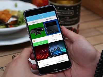 A vs B - Concept minimalist clean ui poll ios app avsb