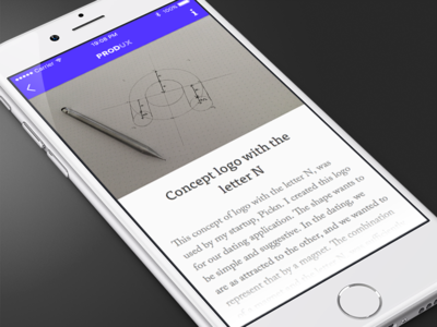 Produx Detail minimalist clean ios ui app produx