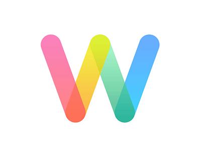 Heyy Dribbble! debut shape gradient identity icon logo symbol entrepreneur design rainbow w colors