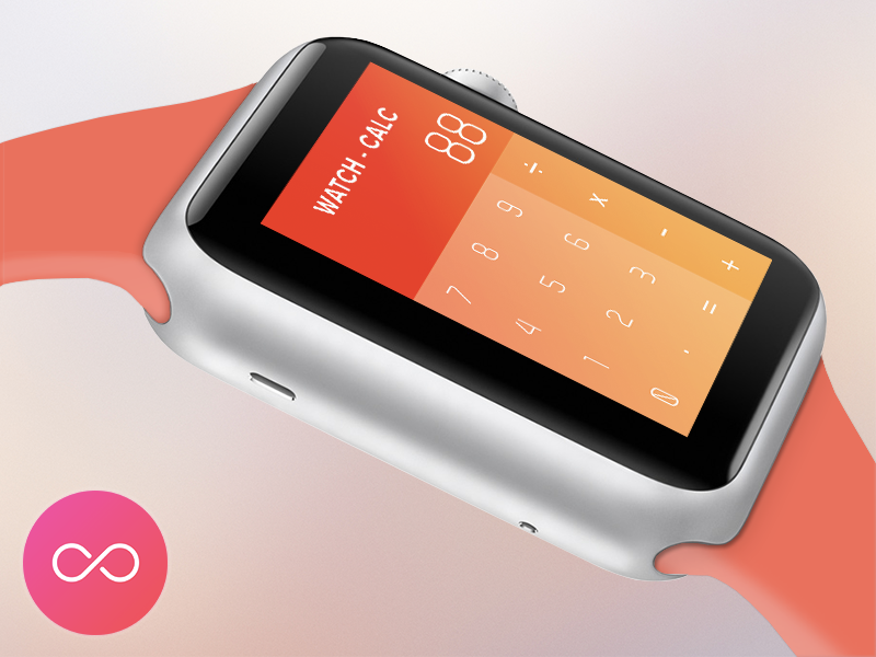 Watch Calculator Design Colors Grant Iwatch Le Minimal Concept Functional