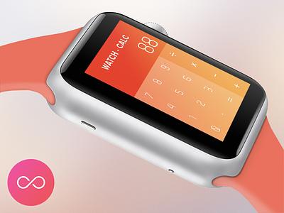 Watch Calculator App Design colors gradient calculator iwatch apple minimal app concept watch functional  ui