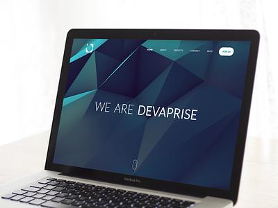 Devaprise Landing Page [WIP] polygon shape web minimal landing website webdesign space ui clean simple colors