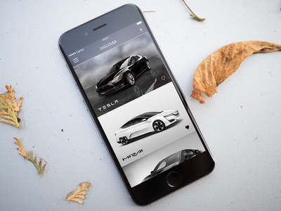 Car Discovery App [Concept] cars discovery minimal simple ios black white ui clean iphone app apple
