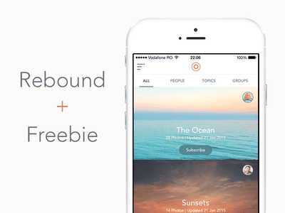 Photos App [Freebie] white minimal simple app photos ui clean ios free freebie psd rebound