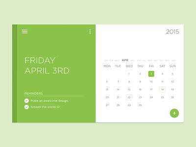 Material x Widget x Freebie ui material interface widget minimal calendar psd free freebie simple white clean
