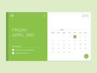 Material x Widget x Freebie ui material interface widget minimal calendar psd free freebie simple white clean