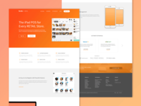 Landing Page red pos bindo simple clean gradient minimal homepage website web landing retail