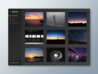 Unsplash Concept ui interface platform black photo simple clean minimal dark web unsplash concept
