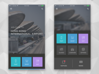 HK Airport App [Concept] ui interface hk airport black dark simple ios clean app concept