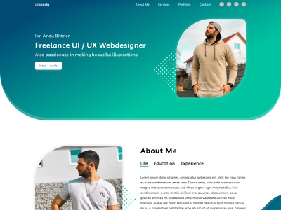 Freelance UI / UX Webdesigner Portfolio figma portfolio freelancer uxdesign uidesign illustration website wordpress webdesign sketchapp invision adobexd adobe illustrator