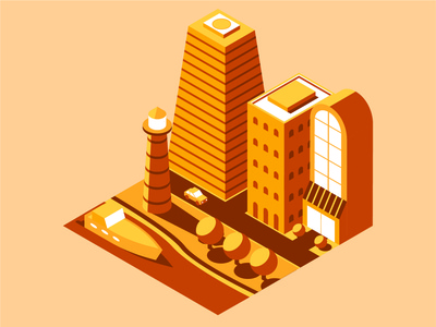 Isometric City Illustration