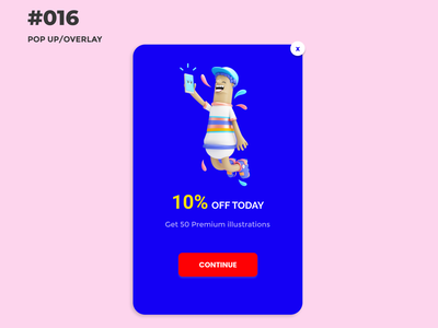DAILY UI #016 - POP UP design ui design uiux uiuxdesign 016 popup dailyuichallenge dailyui
