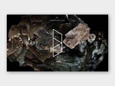 Burnie's Rock Shop Logo & Landing Page photo editing digital photography photography fossils minerals stones jewelry wisconsin logo design logo landing page design landing page design website web web design