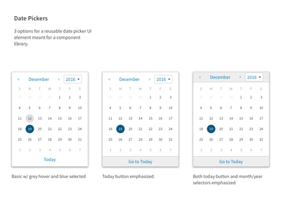 Component Library Date Picker picker date