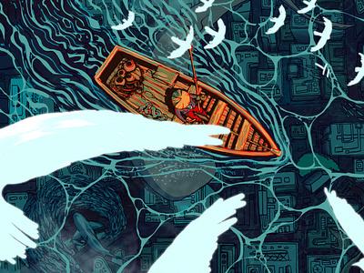 Sea Level Rise environmentalism environmental drawing illustrator digital illustration photoshop illustration digital art banner design