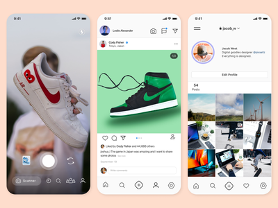 Social media app like instagram instagram app ui ux