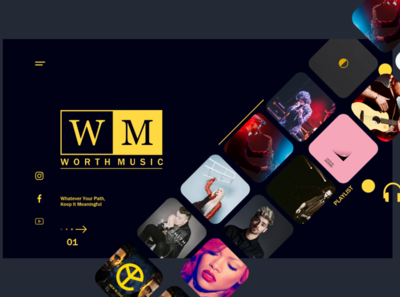Music Web Design Concept app design ui ux web branding webdesign