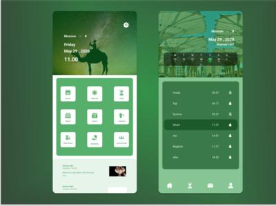 Islamic App design branding webdesign islamic design islamic app ux ui