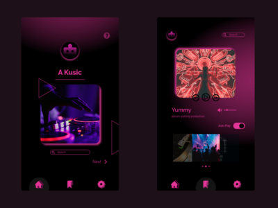 UI/UX Music Player for android branding app ux ui design web webdesign