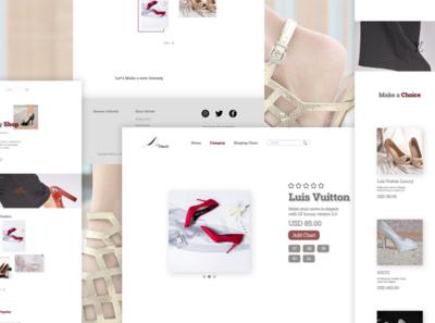Online Shop Web Design design typography branding ux ui web webdesign