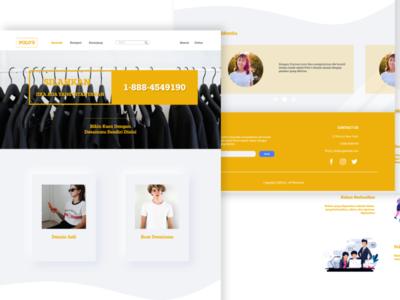 POLO's Project Web Design fashion branding webdesign